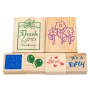 Trademark Games™ 6 Piece Wood Mounted Rubber Stamp Set