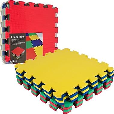 8 Piece Multicolor Eva Foam Exercise Mat