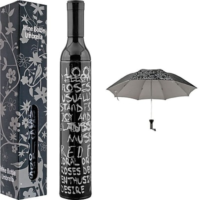 Trademark Home™ Wine Bottle Umbrella, Black/Silver
