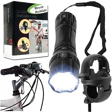 Whetstone™ 14 LED Flashlight With Bicycle Clip, Black
