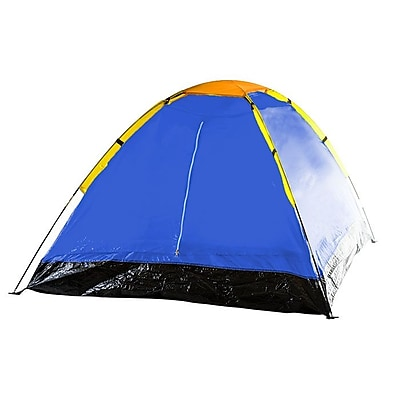 Whetstone Two Person Tent With Carry Bag, Yellow/Blue