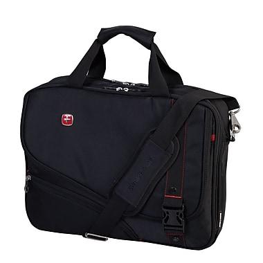 Swiss Gear – Mallette à double soufflet pour ordinateur portatif de 15,6 po, noir