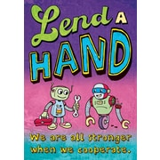 Scholastic Inspirational POP Chart, Lend a Hand We are All Stronger When We Cooperate