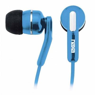 Naxa NE-921-BL High Performance Isolation Stereo Earphone, Blue