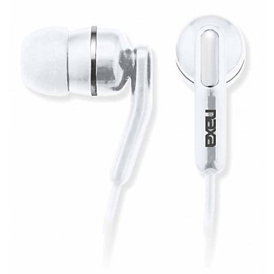 Naxa NE-921-WH High Performance Isolation Stereo Earphone, White
