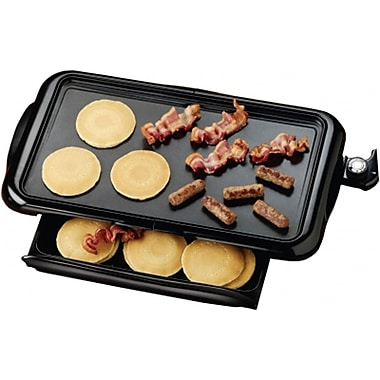 Brentwood 1400 W Adjustable Temperature Non-Stick Electric Griddle, Black