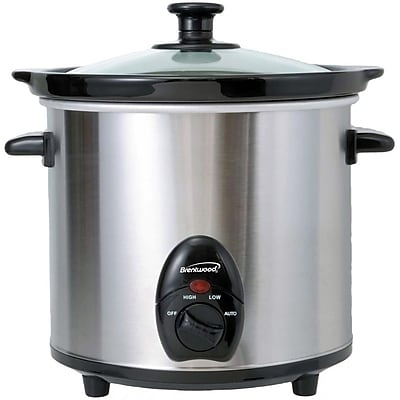 Brentwood 3-Quart Stainless Steel Slow Cooker