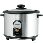 Brentwood 10 Cups Non-Stick Rice Cooker, Stainless Steel/Black