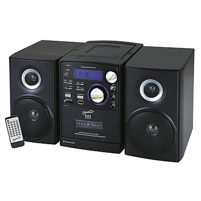 Supersonic® SC-807 Portable Audio System With MP3/CD Player, Cassette Recorder and Am/FM Radio