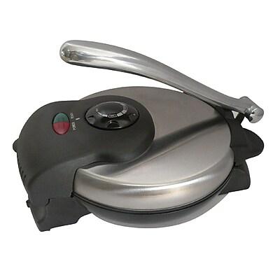 Brentwood 1000 W Non-Stick Tortilla Maker, Stainless Steel