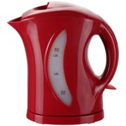 Brentwood® 1.7 Litre Cordless Plastic Tea Kettle; Red