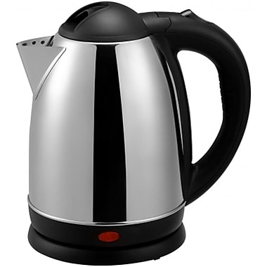Brentwood® 1.7 Litre Cordless Stainless Steel Electric Tea Kettle, Brushed