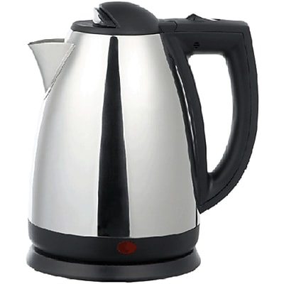 Brentwood® 2 Liter Cordless Stainless Steel Electric Tea Kettle, Red