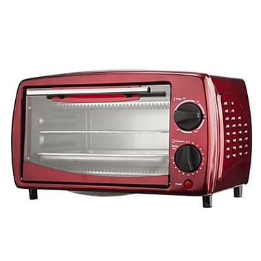 Brentwood 700 W Four Slice Toaster Oven, Red