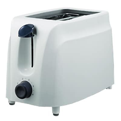 Brentwood 750 W Two Slice Cool Touch Toaster; White