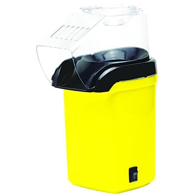 Brentwood 1200 W Hot Air Popcorn Maker, Yellow