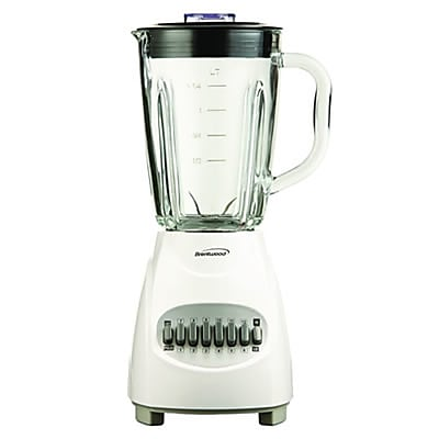 Brentwood® 12 Speed Blender With 1.25 Litre Glass Jar; White
