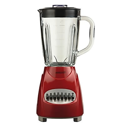 Brentwood® 12 Speed Blender With 1.25 Litre Glass Jar, Red