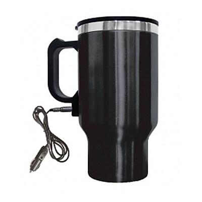 Brentwood® 16 oz. Electric Coffee Mug With Wire Car Plug, Black
