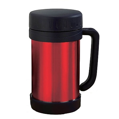 Brentwood 0.5 Litre Stainless Steel Vacuum Food Thermo With Handle; Red