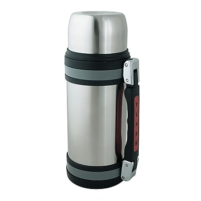 Brentwood 1.2 Liter Stainless Steel Vacuum Bottle With Handle