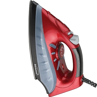 Brentwood 1200 W Non-Stick Steam/Dry/Spray Iron; Red