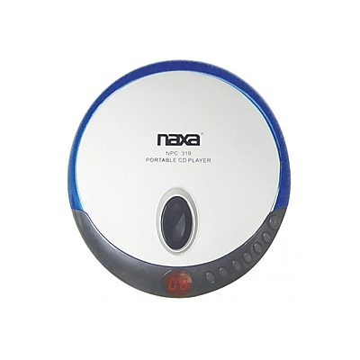Naxa® NPC-319 Slim Personal Compact Disc Player With Earbuds, Blue