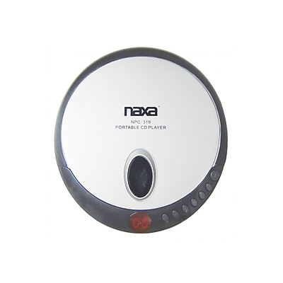 Naxa® NPC-319 Slim Personal Compact Disc Player With Earbuds, Black