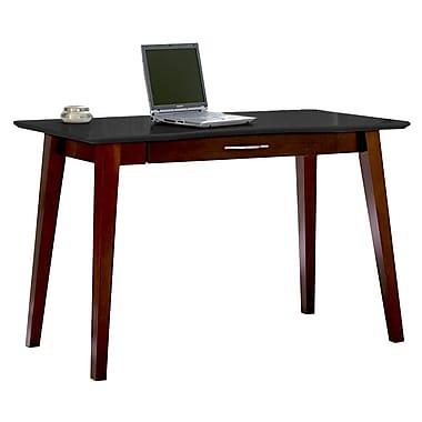 Kathy Ireland Home by Martin Infinity Wood Writing Desk, Onyx Black