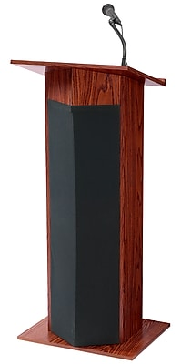 Oklahoma Sound Power Plus Wireless Sound Lectern, Mahogany (111PLS-MY)