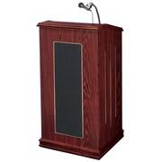 Oklahoma Sound Prestige Wireless Sound Lectern, Medium Oak (711-MO)