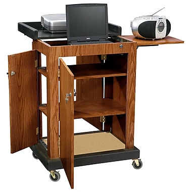 Oklahoma Sound® Smart Cart Audio Visual Lectern, Medium Oak