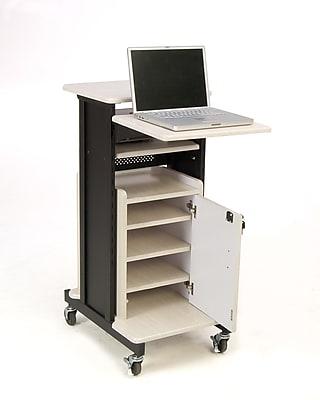 Oklahoma Sound® Premium Plus Presentation Cart With Storage Cabinet
