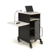 Oklahoma Sound® Steel Jumbo Plus Audio Visual Presentation Cart, Black/Wood Grain (PRC450)