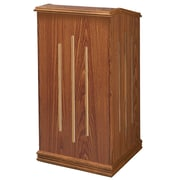 "Oklahoma Sound Premier Floor Lectern, 47""H x 22""W x 18""D, Medium Oak (501-MO)"