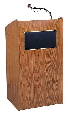 Oklahoma Sound Aristocrat Sound Lectern, Medium Oak (6010-LWM-5-MO)