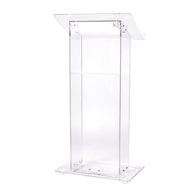 Oklahoma Sound Floor Lectern, Clear (401S)