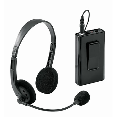 Oklahoma Sound® Wireless Headset Microphone For Lecterns, Black