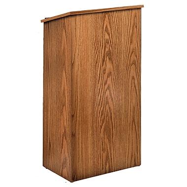 Oklahoma Sound Full Floor Lectern, Medium Oak (222-MO)