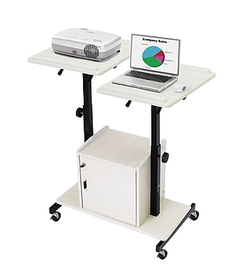 Oklahoma Sound® Wood Deluxe Audio Visual Presentation Cart, 44