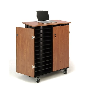 Oklahoma Sound® Laptop Charging and Storage Cart, Black