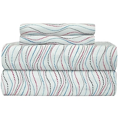 Pointehaven Heavy Weight Metro Printed Flannel Sheet Set; Extra-Long Twin