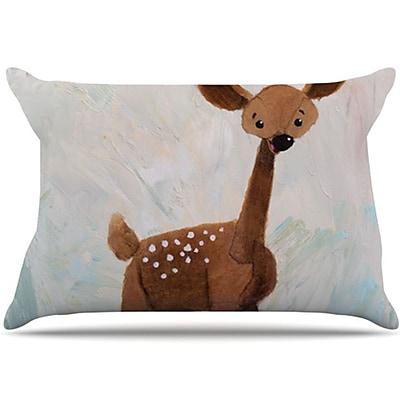 KESS InHouse Oh Deer Pillowcase; Standard WYF078275978519