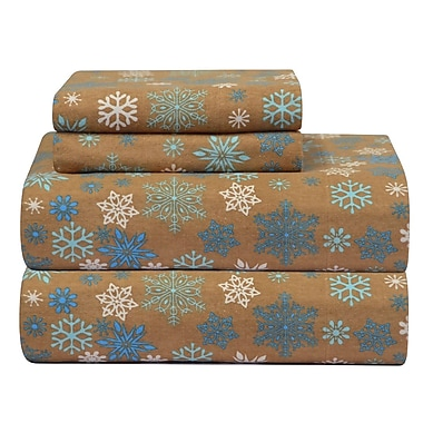 Pointehaven Heavy Weight Printed Flannel Sheet Set; Twin Extra Long