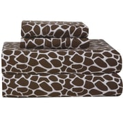Pointehaven Heavy Weight Giraffe Flannel Sheet Set; King