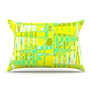 KESS InHouse Changing Gears in Sunshine Pillowcase; Standard