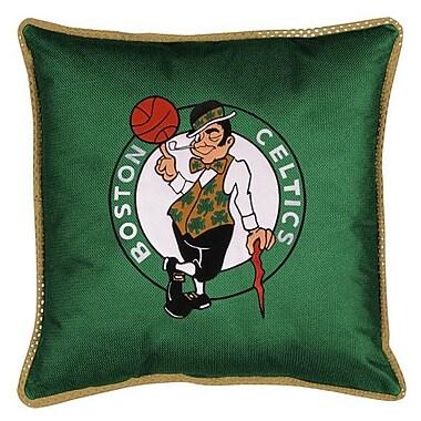Sports Coverage NBA Boston Celtics Sidelines Throw Pillow