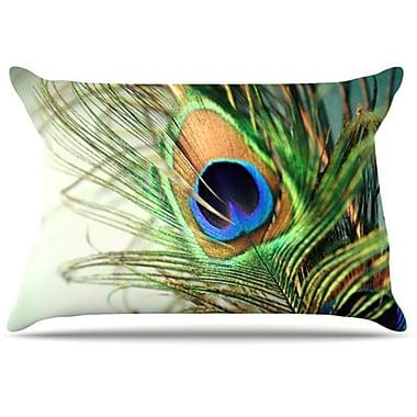 KESS InHouse Peacock Pillowcase; Standard