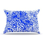 KESS InHouse Bloom Blue for You Pillowcase; Standard