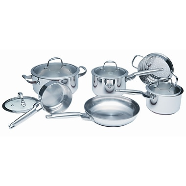 Paderno ProCopper 10-Piece Cookware Set, Stainless Steel